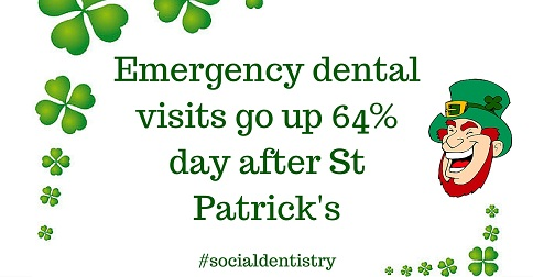 Frisco TX Dentist Shares Dental Emergency Stats on St. Patrick's Day